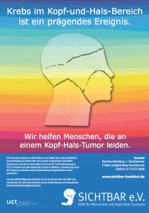Das Sichtbar-Poster um auf Kopf-Hals-Tumore aufmerksam zu machen